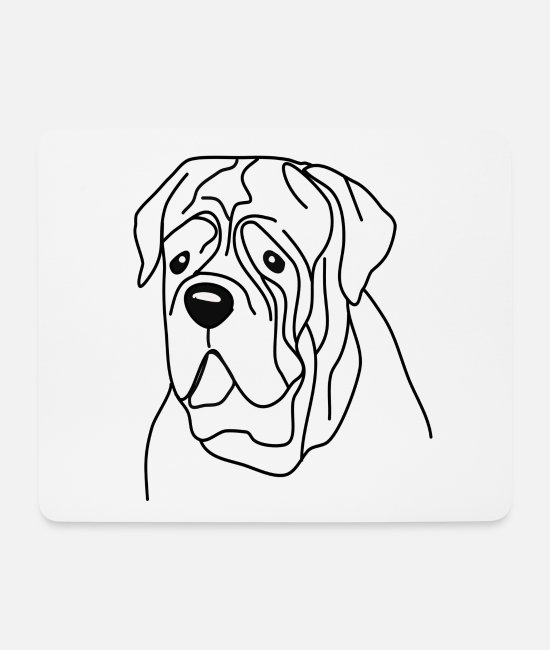 Heart Mouse Pads - Bordeaux mastiff dog shirt shirt dog heart love - Mouse Pad white