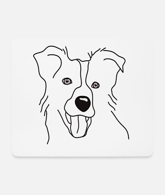 Heart Mouse Pads - Border Collie TShirt Dog Shirt Dogshirt Heart Love - Mouse Pad white