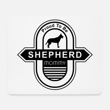 Long-haired Long-haired Herd Dog German Shepherd Dog Mommy | Dog mom dog owner - Mouse Pad