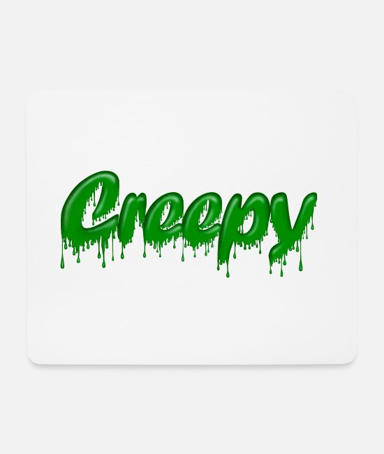 Weirdo Mouse Pads - Green Gloop Creepy - Mouse Pad white