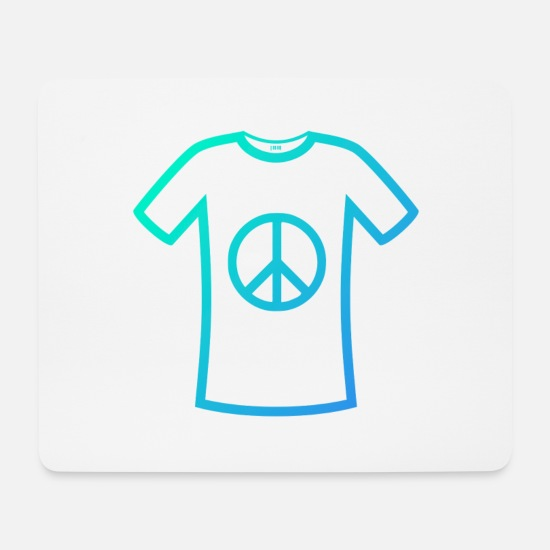 Typography Mouse Pads - Peace peace - Mouse Pad white