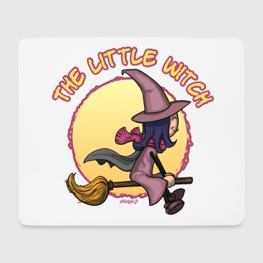 Witch on her broom - Tapis de souris (format paysage)