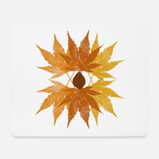 Eye Mouse Pads - Autumn leaves - Mouse Pad white