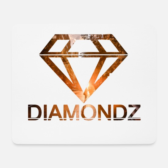 Ring Mouse Pads - Fall Diamond Diamond Fashion Tshirt # 6 - Mouse Pad white