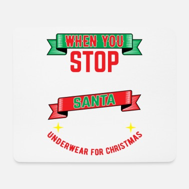 Winter Underwear Christmas Santa Claus winter snow Santa - Mouse Pad