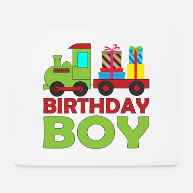 Brother Of Birthday Boy Railway steam train birthday for boy brother - Mouse Pad