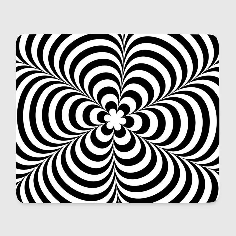 Black Flower 21st Century Op Art Set: Optical Illusion (Impossible) Black & White OP-Art Von