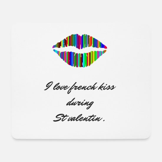 Popular Mouse Pads - French Kiss - Mouse Pad white