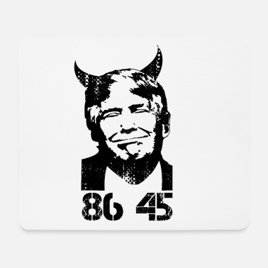 Demokrat Anti Trump USA President Devil 45 Gift - Mousepad (bredformat)