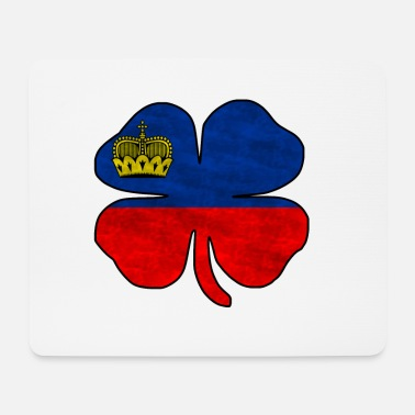 National Liechtenstein national flag - Mousepad (bredformat)