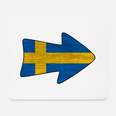 National Sveriges nationale flag - Mousepad (bredformat)