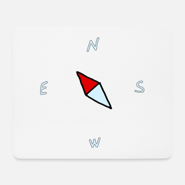 Comic Compass, north, cartoon gift idea - Mouse Pad