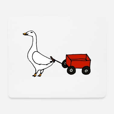 Hand Cart Goose with a cart - Mouse Pad