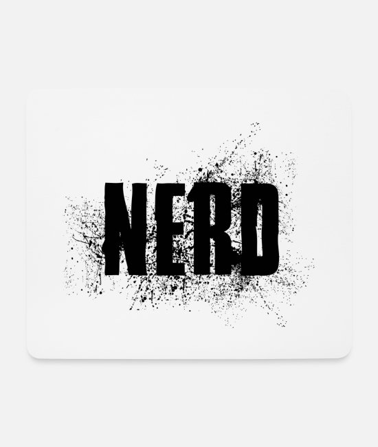 Mateo Mouse Pads - NERD status opinion saying shirt gift idea - Mouse Pad white