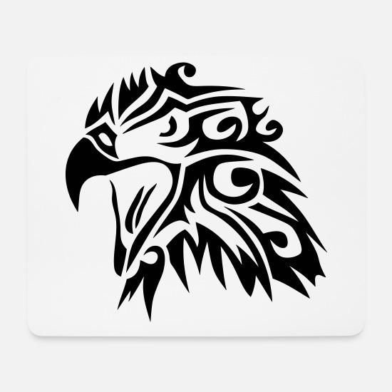 Tribal Eagle Tattoo 11 Mouse Pad Horizontal White