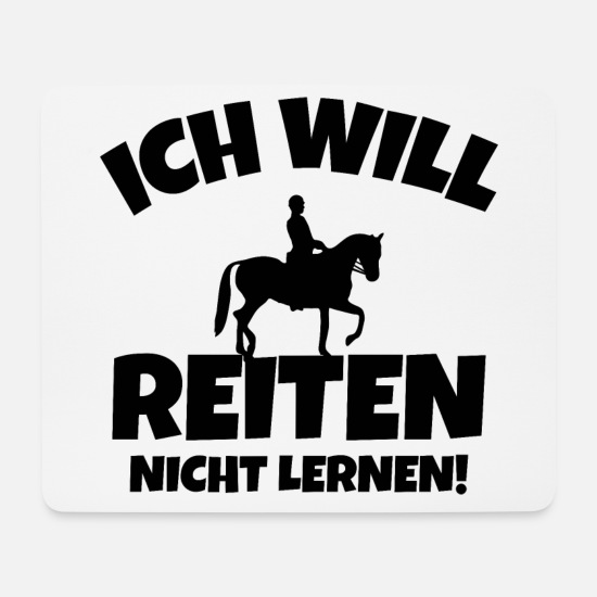 Gift Idea Mouse Pads - I want to ride horses ponny gaul rider - Mouse Pad white
