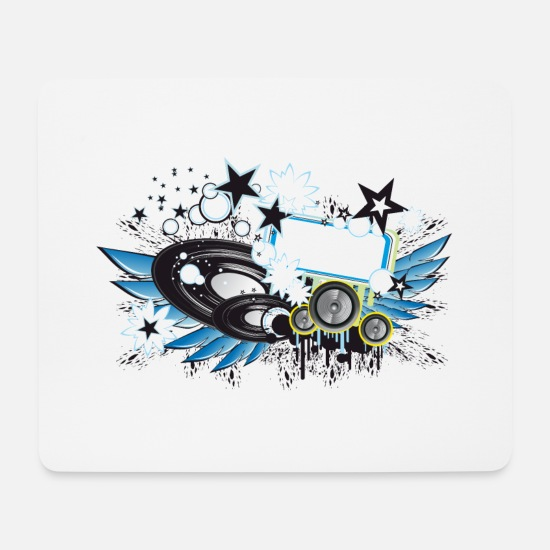Bass Mouse Pads - bass music band 4 F - Mouse Pad white