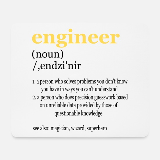 Civil Engineering Technician Mouse Pads - construction engineer - Mouse Pad white