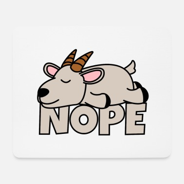 Nope goat - Mouse Pad