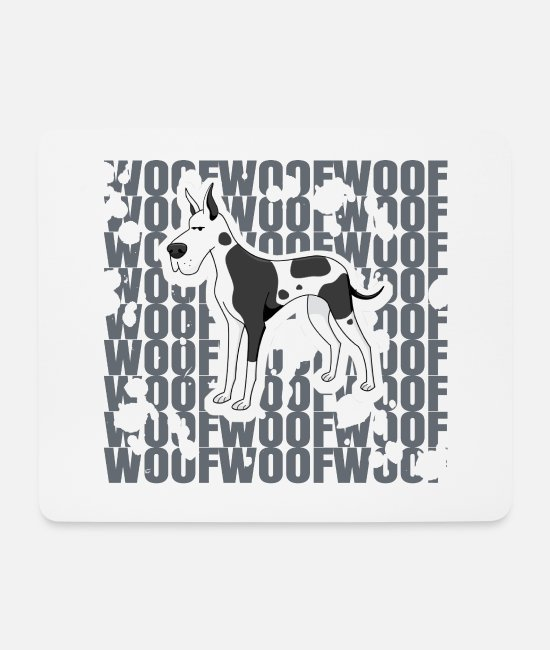 Police Dog Mouse Pads - Great Dane Great Dane Dog Wow Dog Gift - Mouse Pad white