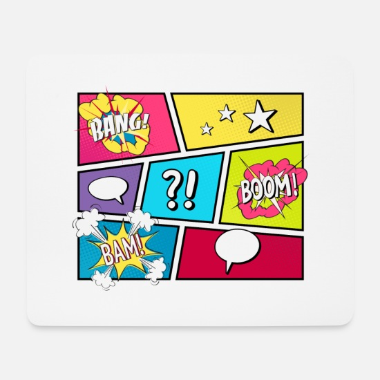Comic Strips Mouse Pads - COMIC STRIP Pop Art - Mouse Pad white