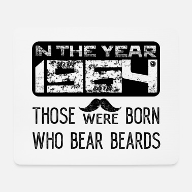 Tattoo In the year 1964 those were born who bear beards - Mousepad (Querformat)