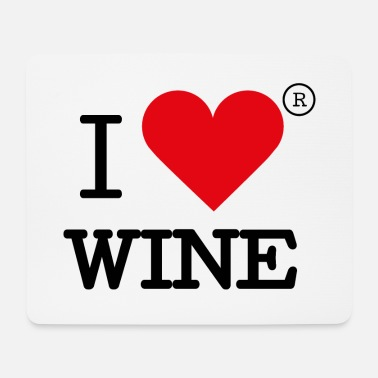 I heart wine - Mouse Pad