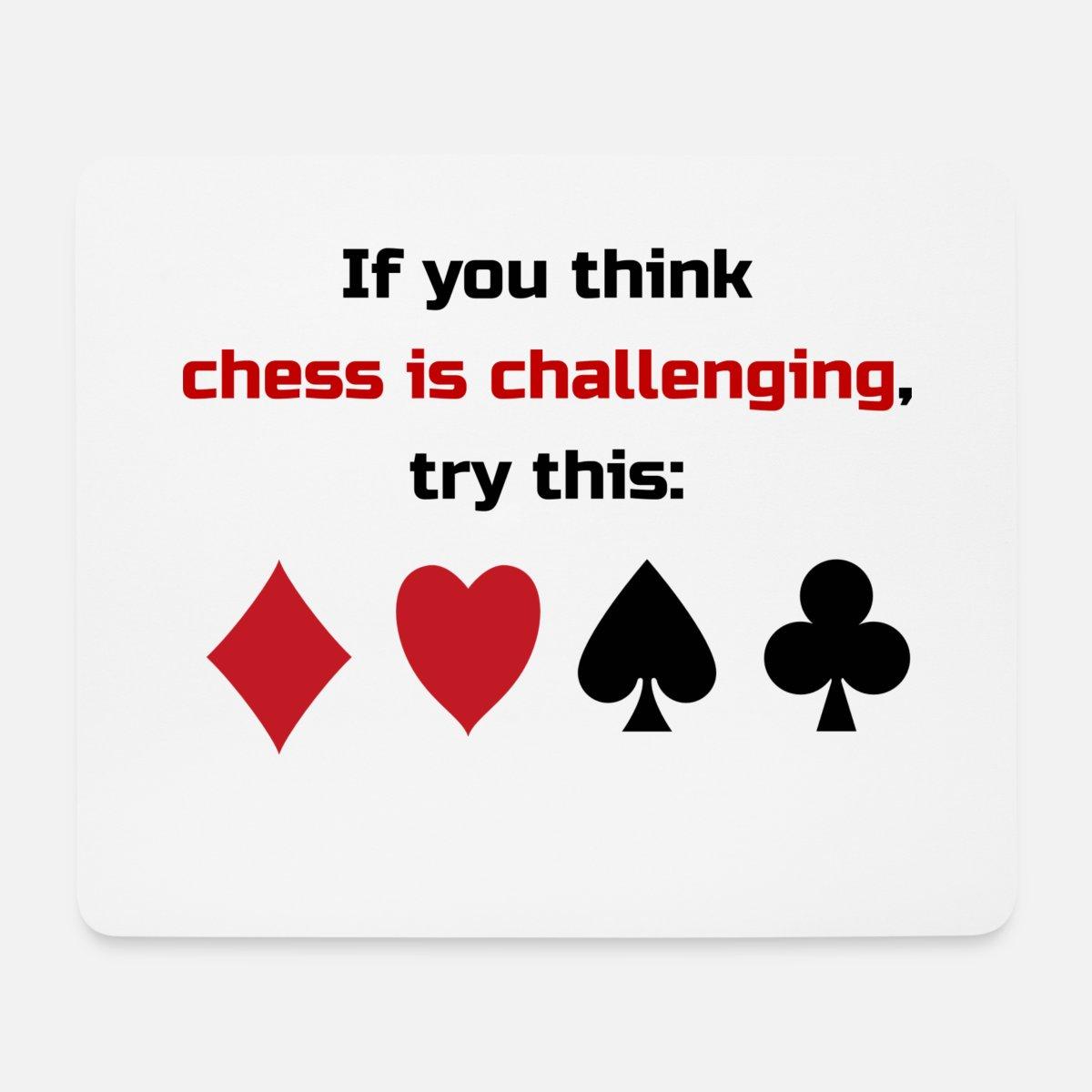 Mau Mau Poker Kartenspiel Challenging Schach Mousepad Spreadshirt