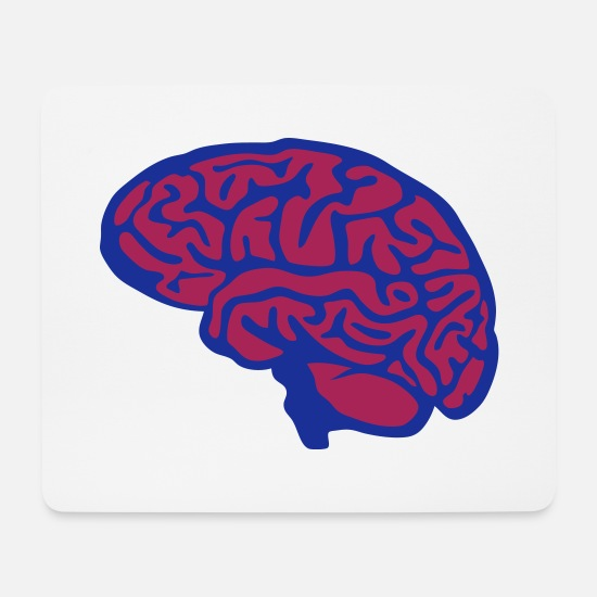Brain Mouse Pads - brain brain 1 1 - Mouse Pad white