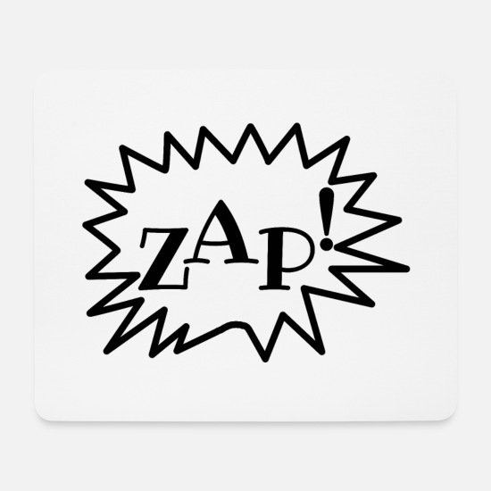 Comics Mouse Pads - ZAP! Cartoonstyle, Comic, Comic Style - Mouse Pad white