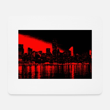 new york black red - Mouse Pad