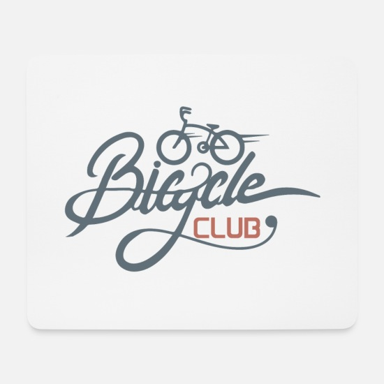 Bike Mouse Pads - Bike Bicycle Shirt - Mouse Pad white