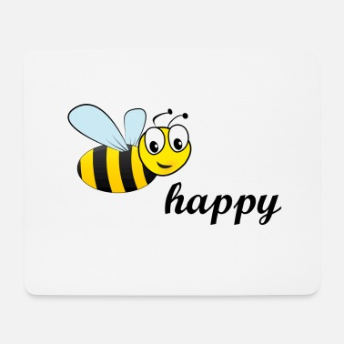 Bee happy - Mouse Pad