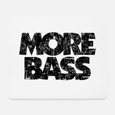 Bass Player More bass (vintage / black) bass player bass player - Mouse Pad