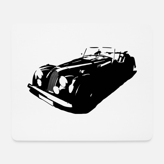 Morgan Mousepads  - Sportwagen Morgan - Mousepad Weiß