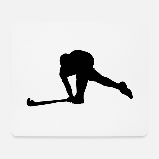 Gift Idea Mouse Pads - field Hockey - Mouse Pad white