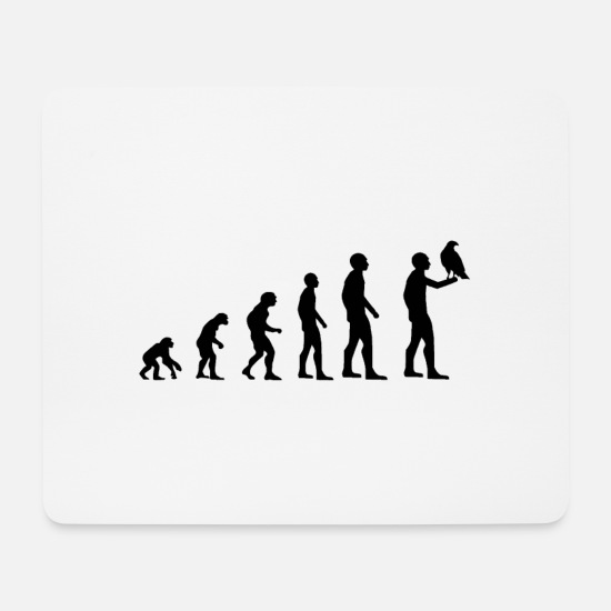 Falcon Mouse Pads - Evolution falconer - Mouse Pad white