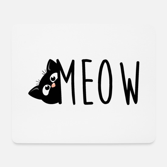 Gift Idea Mouse Pads - Meow Cat Cat Shirt - Mouse Pad white
