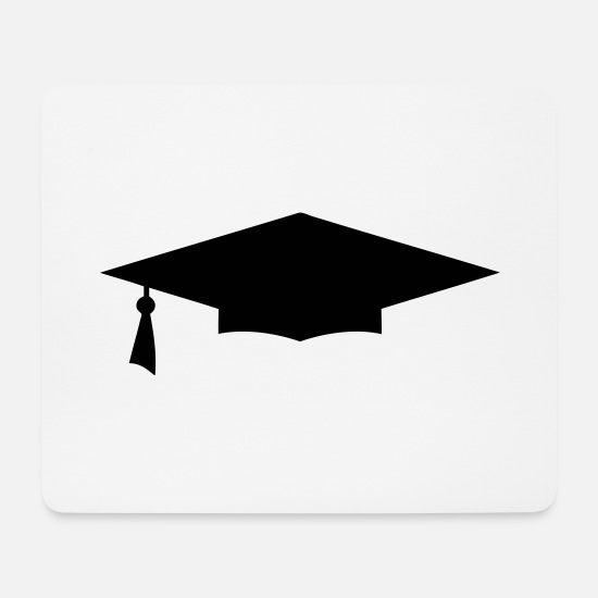 Bowler Mouse Pads - diploma hat icon 12 - Mouse Pad white