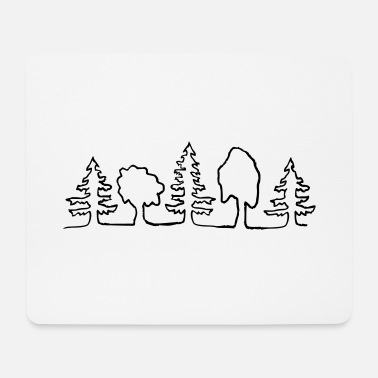 Tree trees - Mouse Pad