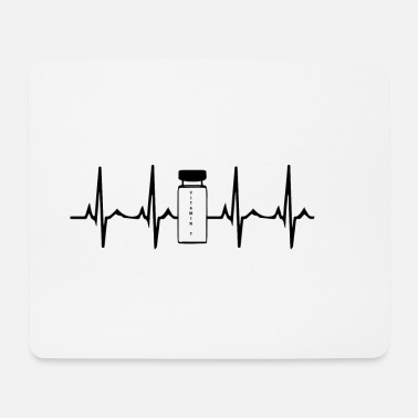 Steroids Heartbeat Steroids Anabolic Steroids White - Mouse Pad