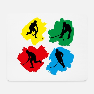 Hockey Pop-art van het hockey - Muismat