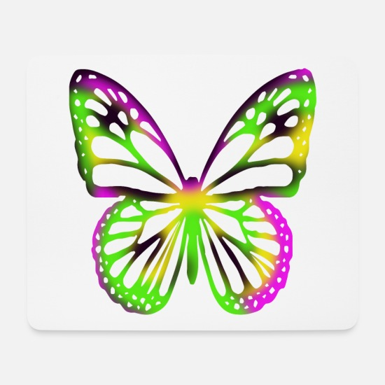Biology Mouse Pads - butterfly - Mouse Pad white