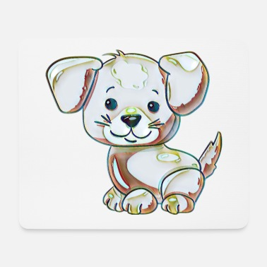 Collection For Kids Cute dog - Mouse Pad
