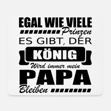 Papa shirt • The King • Daddy Gift - Mouse Pad
