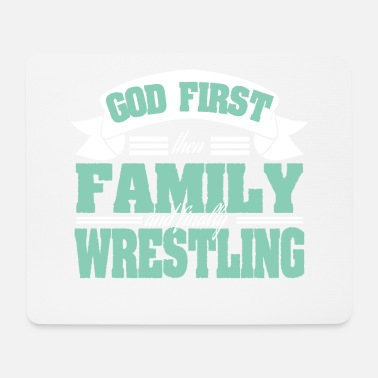 Combat God First Then Family And Finally Wrestling - Mouse Pad
