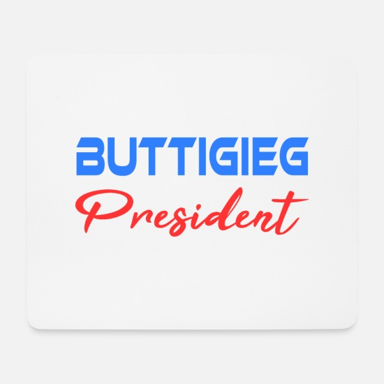 Politics Mouse Pads - Pete Buttigieg 2020 Campaign For President Tshirt - Mouse Pad white