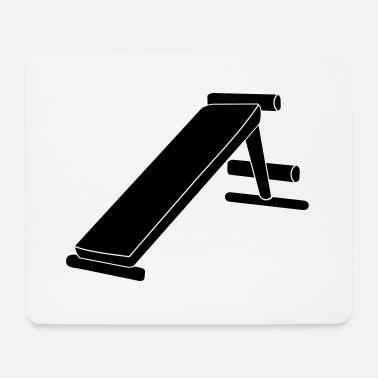 Bench fitness bench - Mouse Pad