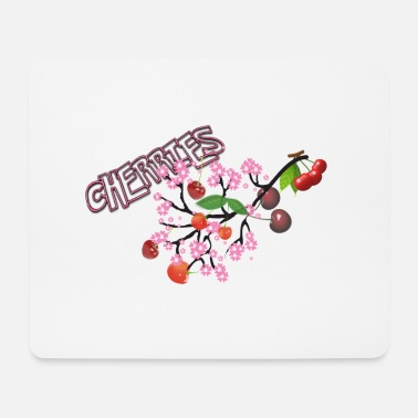 Cherry Cherries. Cherries with cherry blossoms. - Mouse Pad