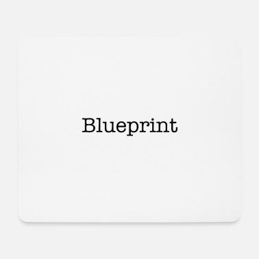 Blueprint Blueprint Black - Mouse Pad